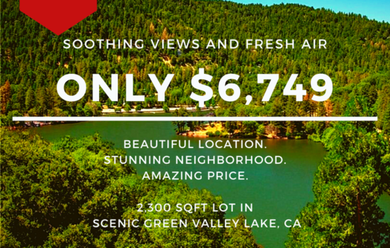 2,300 SQFT Lot with View of Greenery in Green Valley Lake, CA