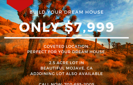 2.5 Acre Lot to Build your Dreams in Mojave, CA