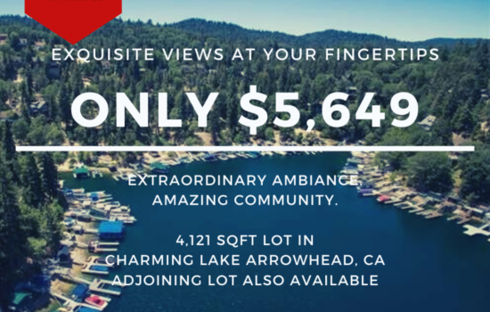 4,121 SQFT Lot for Your Dream Vacation Home in Lake Arrowhead, CA