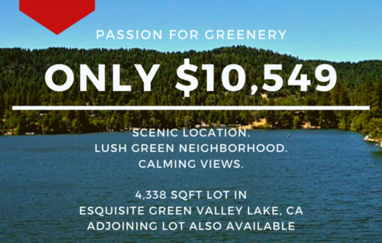 4,338 SQFT Lot in Gorgeous Green Valley Lake, CA