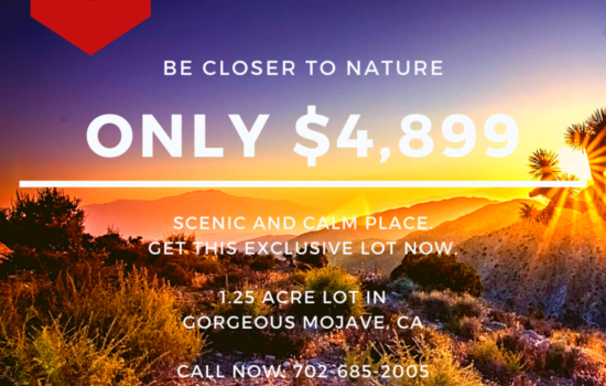 1.25 Acre Lot that Brings you Closer to Nature in Mojave, CA